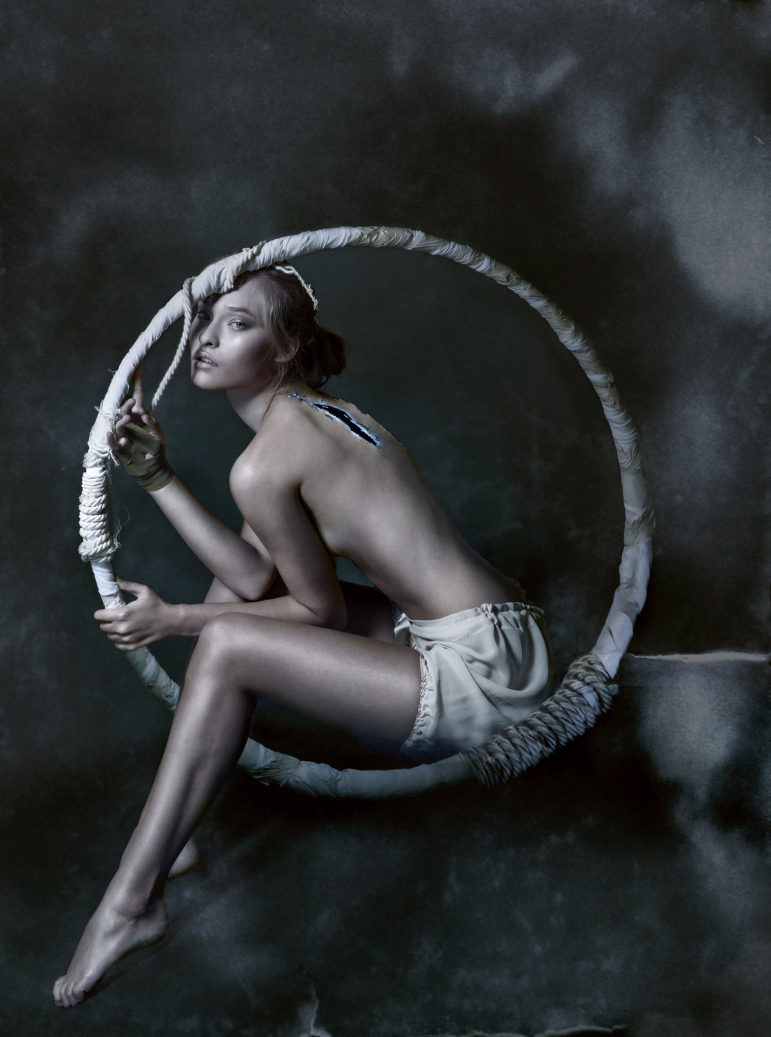 Silk Georgette Culotte by Ikonostas