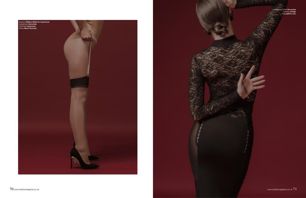 Suspenders, Nicole Bodysuit, Moon Skirt